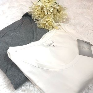 A:GLOW Set of 2 Long Sleeve Maternity Tops